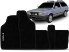 Tapete Carpete VW Parati G1 Quadrada 1985/1995 Preto 05 Peças Grafia Bordada Lavável Antiodor Antichamas