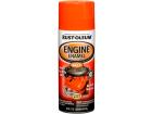Tinta Spray Esmalte Sintético p/ Motor Rust Oleum Engine Enamel 260ºC Laranja Brilhante 340g