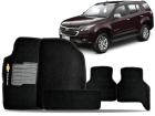 Tapete Carpete Chevrolet Trailblazer 2013/.. Preto 05 Peças Grafia Bordada Lavável Antiodor Antichamas