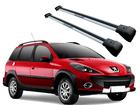 Rack Travessa de Teto para Peugeot 206/207 SW (sem teto solar) - Projecar Prata Largo