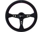 Volante Lotse Clássico GTI - Couro Preto - 350mm Haste Preta