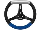 Volante Kart Lotse Supremo Preto Camurça Azul