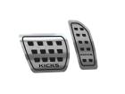 Pedaleira Nissan Kicks Automático 16/.. Aço Inox Escovado